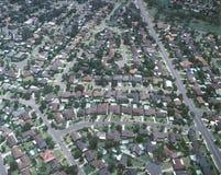 Ideia aérea de casas suburbanas de sydney Imagem de Stock Royalty Free