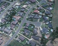 Ideia aérea de casas suburbanas de sydney Imagem de Stock
