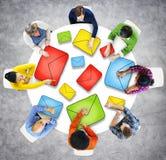 Ideia aérea de conceitos dos povos e do email Imagens de Stock Royalty Free