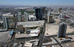 Ideia aérea de Las Vegas Blvd & de paraíso Rd Imagem de Stock Royalty Free