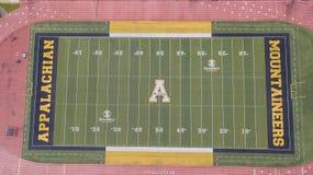 Ideia aérea de terras de Stadium On The do cervejeiro de Kidd do appalachian fotografia de stock royalty free