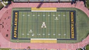 Ideia aérea de terras de Stadium On The do cervejeiro de Kidd do appalachian imagem de stock royalty free
