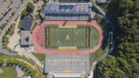 Ideia aérea de terras de Stadium On The do cervejeiro de Kidd do appalachian fotografia de stock
