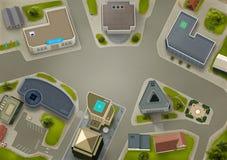 Ideia aérea de um centro de negócio Imagem de Stock