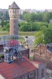 """Ideia aérea de um  fechado do """"Katowice†da mina de carvão no Polônia Foto de Stock"""