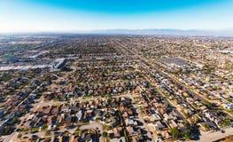 Ideia aérea de uma interseção maciça da estrada no LA Imagem de Stock Royalty Free