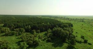 Ideia aérea de uma paisagem do russo filme