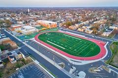Ideia aérea do campo de futebol Foto de Stock Royalty Free