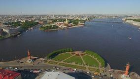 Ideia aérea do centro da cidade em St Petersburg video estoque