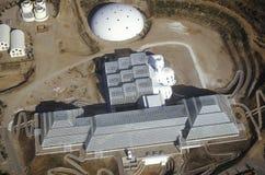 Ideia aérea do ecossistema incluido da biosfera 2 em Oracle em Tucson, AZ fotografia de stock