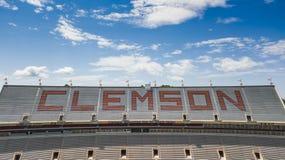 Ideia aérea do estádio de Frank Howard Field At Clemson Memorial fotografia de stock