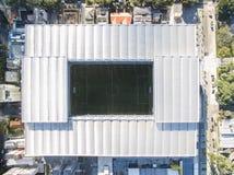Ideia aérea do estádio de futebol do clube atlético do paranaense Baixada da Dinamarca da arena curitiba parana Em julho de 2017 Imagens de Stock Royalty Free