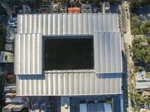 Ideia aérea do estádio de futebol do clube atlético do paranaense Baixada da Dinamarca da arena Curitiba/Parana Em julho de 2017 Fotografia de Stock Royalty Free