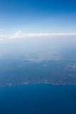 Ideia aérea do litoral Fotos de Stock Royalty Free