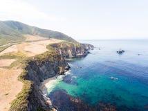 Ideia aérea do litoral de Big Sur, Califórnia Imagens de Stock