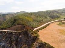 Ideia aérea do litoral de Big Sur, Califórnia Fotos de Stock Royalty Free