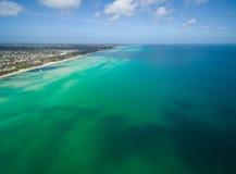 Ideia aérea do litoral do Rosebud, Austrália foto de stock