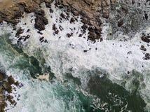 Ideia aérea do litoral do oceano e de Califórnia do norte Fotografia de Stock Royalty Free