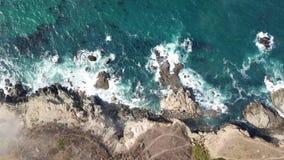 Ideia aérea do litoral do oceano e de Califórnia do norte vídeos de arquivo
