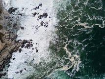 Ideia aérea do litoral do Oceano Pacífico e de Califórnia do norte Foto de Stock Royalty Free
