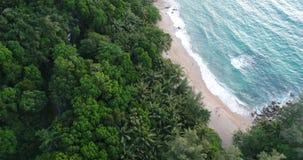 Ideia aérea do mar e do litoral da praia em Phuket vídeos de arquivo