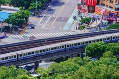 Ideia aérea do MRT de Taipei imagens de stock
