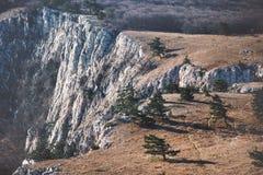 Ideia aérea do platô das montanhas rochosas Foto de Stock