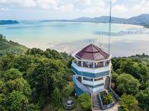 Ideia aérea do ponto de vista de Khao-Khad, opiniões de 360 graus em Phuket Foto de Stock
