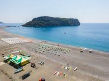 Ideia aérea do Praia uma praia da égua, província de Cosenza, Calabria, Itália 06/26/2017 Imagem de Stock Royalty Free