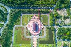 Ideia aérea Ho da arquitetura tailandesa tradicional do luang de kham no th imagens de stock