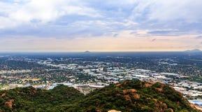 A ideia aérea rapidamente de alastrar a cidade de Gaborone espalhou para fora sobre t Imagens de Stock Royalty Free