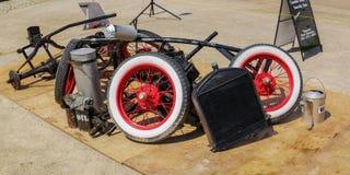 Ideia abstrata surpreendente do close up das peças retros do carro do vintage clássico e dos outros objetos Foto de Stock