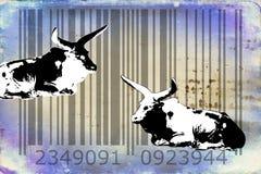 Ideia animal da arte do projeto do código de barras do búfalo Imagens de Stock Royalty Free