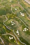 Ideia aérea do campo de golfe Fotografia de Stock Royalty Free