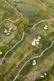 Ideia aérea do campo de golfe Fotografia de Stock