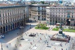 Ideia aérea do quadrado em Milão Fotos de Stock Royalty Free