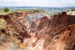 A ideia bonita da erosão da garganta sulca, na reserva Tsingy Ankarana, Madagáscar imagens de stock royalty free