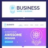 Ideia bonita da marca do conceito do negócio, inovação, luz, s ilustração do vetor