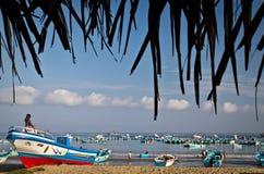 Ideia bonita da praia de uma manhã típica dentro Imagem de Stock
