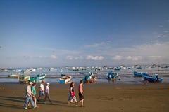 Ideia bonita da praia de uma manhã típica dentro Foto de Stock Royalty Free