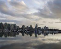 Ideia bonita da skyline de Vancôver foto de stock royalty free
