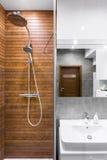 Ideia bonita do interior do banheiro fotografia de stock royalty free