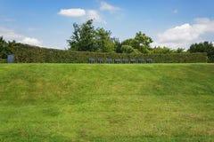 A ideia bonita do jardim no modelo jardina Appeltern, Nederland Fotografia de Stock Royalty Free