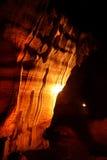 Ideia cênico da luz na caverna, Tailândia Foto de Stock Royalty Free