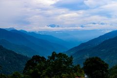 Ideia cênico do circuito de Annapurna foto de stock