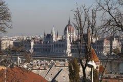 Ideia cênico do parlamento húngaro Fotos de Stock