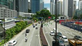 Ideia cênico do tráfego no centro da cidade de Kuala Lumpur na manhã video estoque