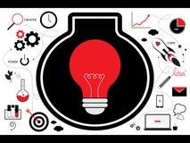 Ideia criativa com conceito do negócio do começo acima foto de stock