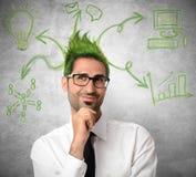 Ideia criativa de um homem de negócios Fotos de Stock Royalty Free