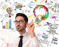 Ideia criativa do negócio Imagens de Stock Royalty Free